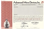 Advanced Micro Devices, Inc. Specimen Stock Certificate