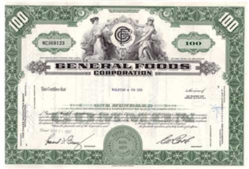 General Foods Corporation Stock Certificate