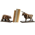Cast Iron Bull & Bear Bookends