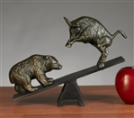 Teeter Totter Bull & Bear Sculpture