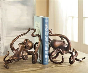 Octopus Bookends Pair