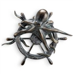 Octopus and Ships Wheel Wall Plaque