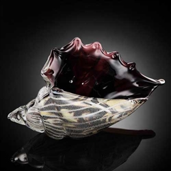 Art Glass Conch Shell