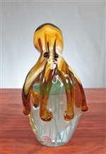Art Glass Octopus and Jellyfish Paperweight