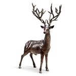 Woodland King Buck Deer Sculpture