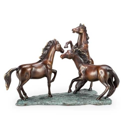 Prairie Dance Horse Trio Sculpture