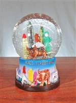 The Wall Street Bull Snow Globe - Medium
