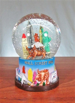 The Wall Street Bull Snow Globe - Large