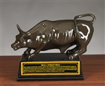The Wall Street Bull Statue - Brown Finish - 8 Inch
