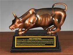 The Wall Street Bull Statue - Bronze Finish - 5 Inch