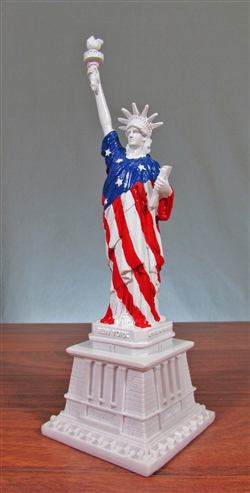 Statue of Liberty Statue with American Flag - 8.5""