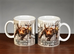 The Wall Street Bull Coffee Mug Set - White