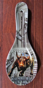 The Wall Street Bull Ceramic Spoon Rest