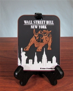 The Wall Street Bull Luggage Tag