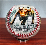 The Wall Street Bull Baseball
