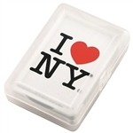I Love NY Playing Cards - White