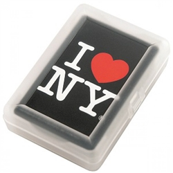 I Love NY Playing Cards - Black