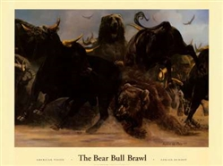 The Bear Bull Brawl by Adrian De Rooy