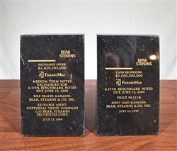 Bear Stearns | FannieMae Marble Bookends