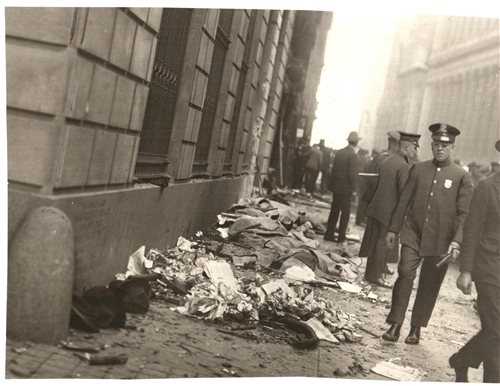Chicago Tribune Photo Archive 1920 Wall Street Bombing