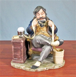 "Norman Rockwell's ""The Tycoon"" by PUCCI - Sitting Stock Broker Figurine"