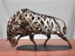 Braided Iron Metal Bull Statue