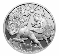 Lion vs. Bull Coin - .999 Fine Silver 1 Troy Oz