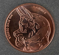Bull & Bear Coin .999 Fine Copper - 1 Oz