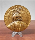 Coca-Cola 100 Year Anniversary Medallion - Solid Bronze