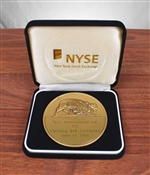 Tyco International NYSE Opening Bell Medallion - Bronze