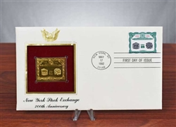 Gold Plated NYSE 200th Anniversary Envelope / Stamp