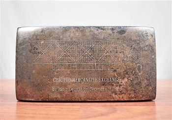 1972 Silver Plated Chicago Mercantile Exchange Building Dedication Box