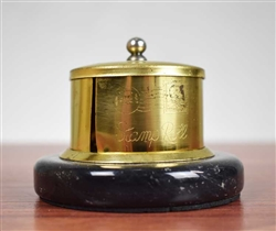 Merrill Lynch Stamp Dispenser - Brass & Marble