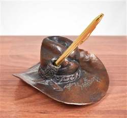 Merrill Lynch Bronze Cowboy Hat by Billy Saathoff