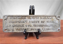 Northern Pacific Railway - J.P. Morgan Sign - 1952