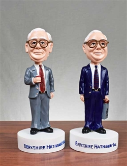 Warren Buffett & Charlie Munger Bobbleheads Set