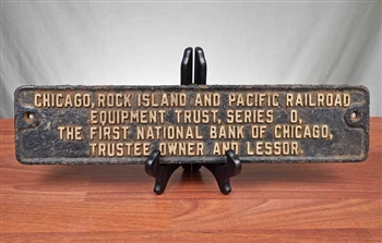 Chicago, Rock Island and Pacific Railroad - First National Bank of Chicago Sign