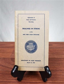 1951 Dealing in Stocks on the NYSE Booklet
