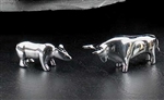 Bull and Bear Paperweight Set