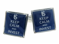 Keep Calm and Invest Cufflinks