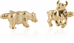 Gold Bull and Bear Cufflinks