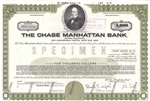 Chase Manhattan Bank Specimen Bond Certificate 1968