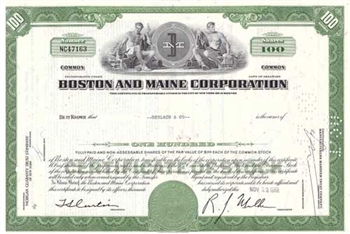Boston and Main Corporation Stock Certificate