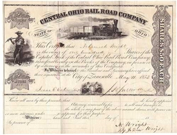 Central Ohio Railroad Company - 1853