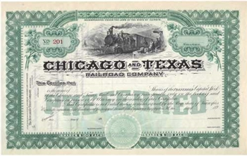 Chicago and Texas Railroad Company - 1890s