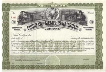 Choctaw and Memphis Railroad - 1890s