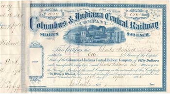 Columbus & Indiana Central Railway - 1868