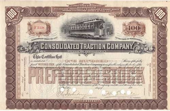 Consolidate Traction Company - 1890s
