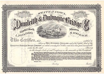 Dunleith & Dubuque Bridge Company - 1800s
