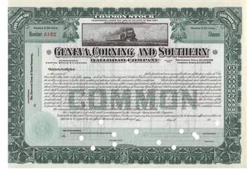 Geneva, Corning and Southern Railroad Company - Green